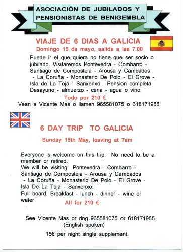 6 day trip to Galicia - Sunday 15th May 2011 POSTER14