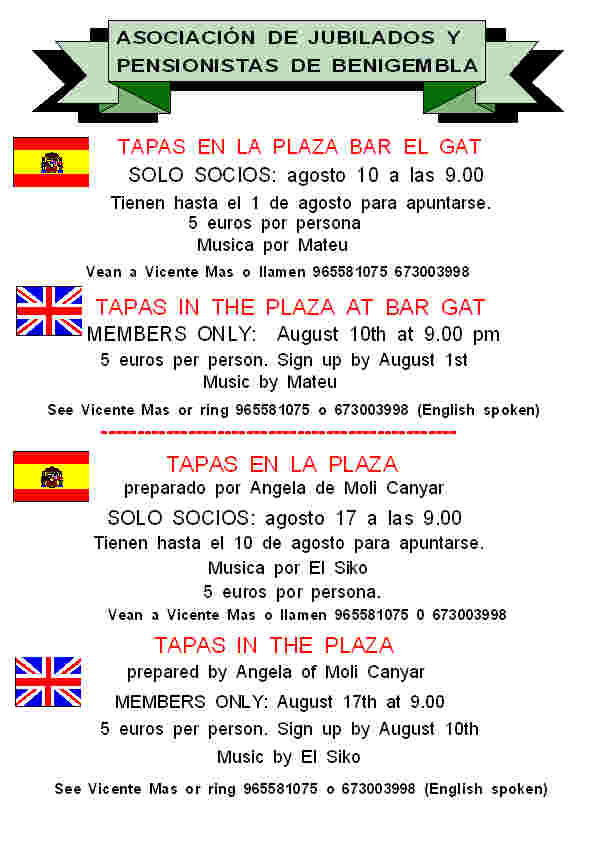 Tapas in Bar Gat August 10th 2013 Poster13-2013
