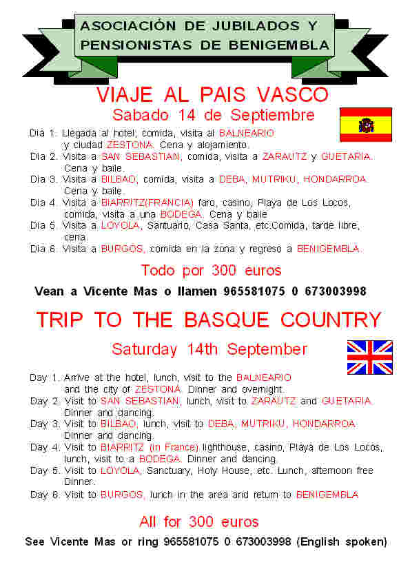 Trip to Basque Country - Saturday 14th September 2013 Poster15-2013
