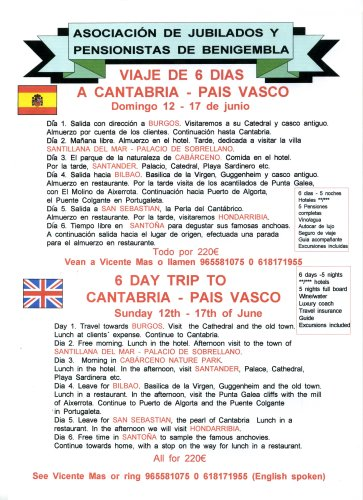 Sunday 12th June 2011 - Cantabria - Pais Vasco Poster15