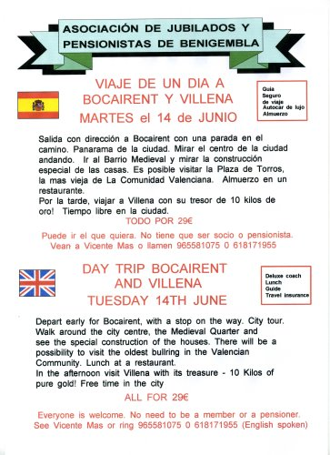 Day trip Bocairent & Villena Tuesday 14th June 2011 Poster18