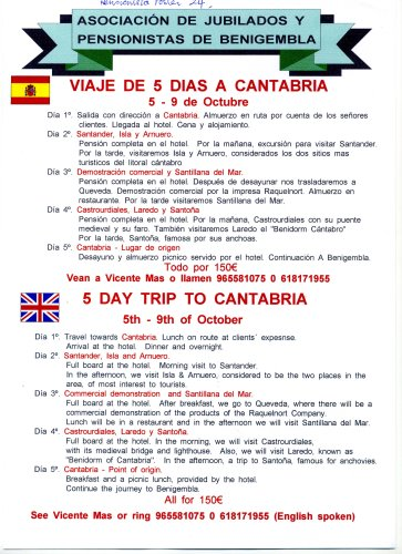 Cantabria on the 5th of October 2011 - 5 days Poster24