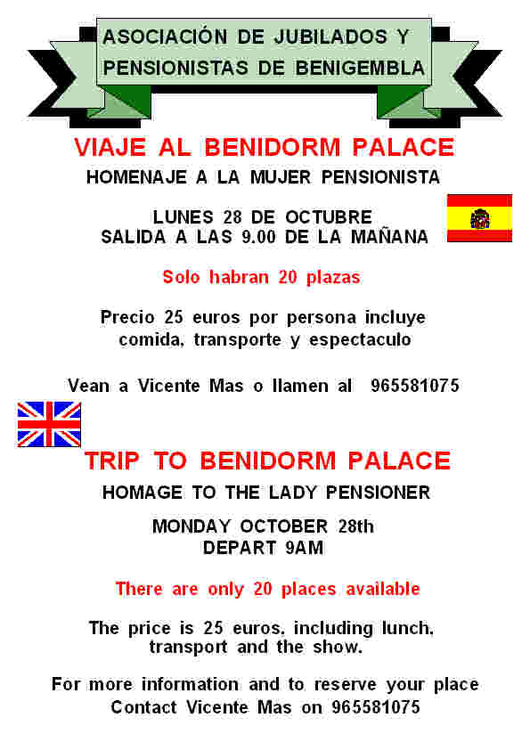 Trip to Benidorm Palace - October 28th 2013 Poster25-2013