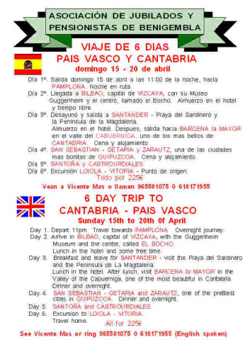 15th - 20th April 2012 Cantabria 6 day trip Poster29
