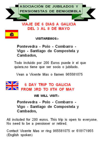 6 day trip to Galicia - 3rd to 8th May 2012 Poster3-2012