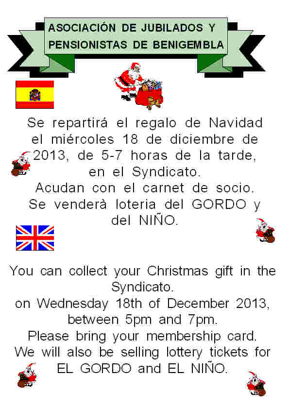 18th December - Collect Christmas gift Poster30-2013